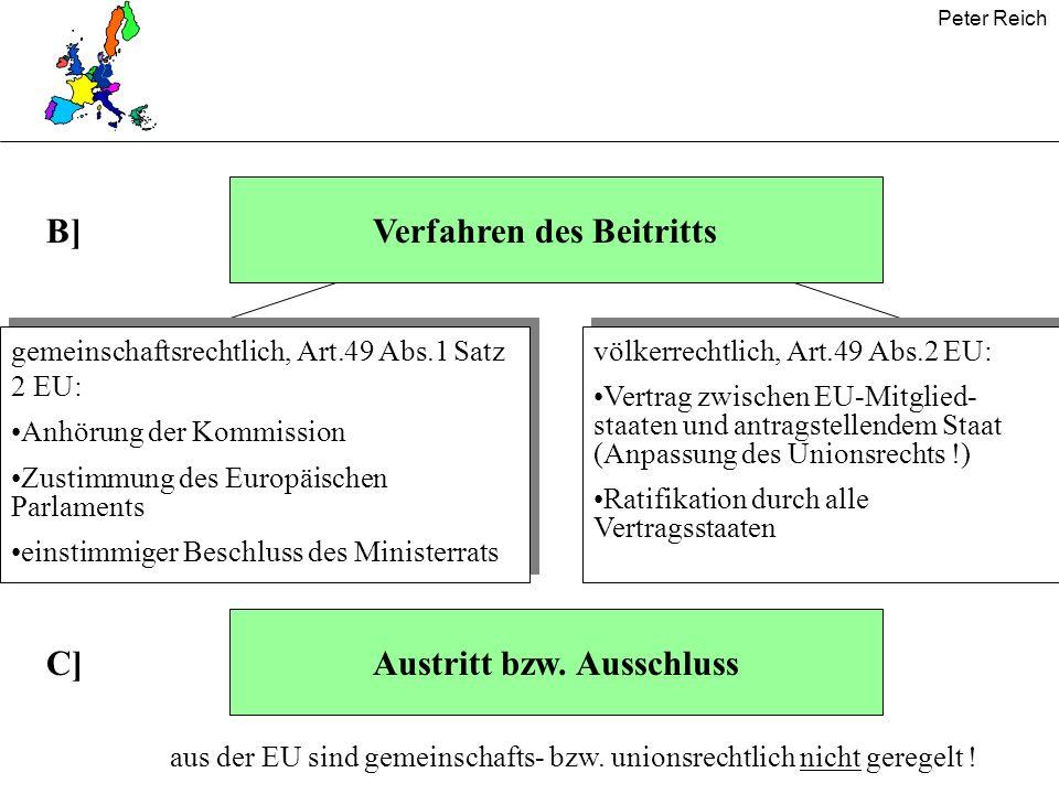 Verfahren des Beitritts B]